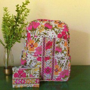 VERA BRADLEY Small Backpack Coin Purse Tea Garden